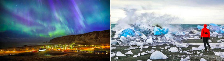 iceland adventure travel northern lights