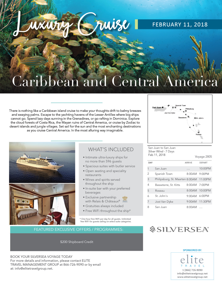 Caribbean and Central America luxury cruise