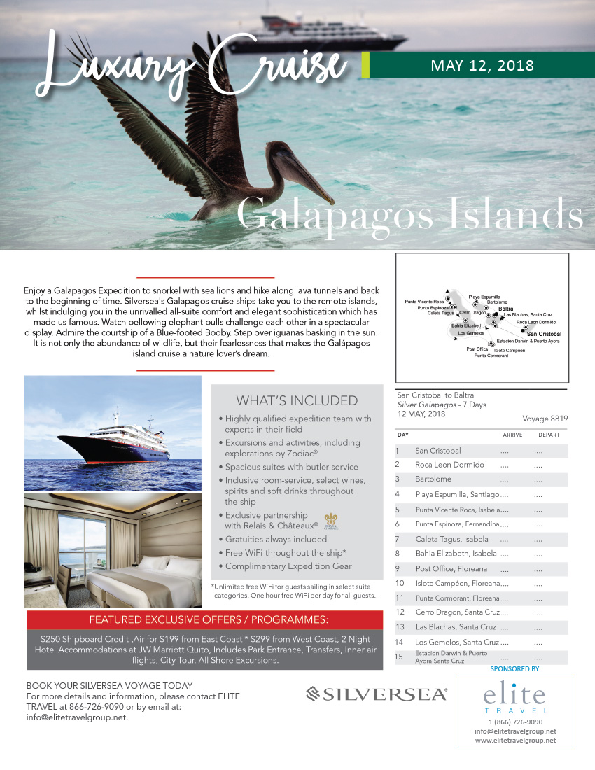 Galapagos Cruises Elite Travel